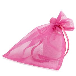 organza bag/17x21cm/hot pink