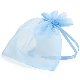 organza bag/17x21cm/light blue