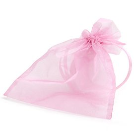 organza bag/17x21cm/pink