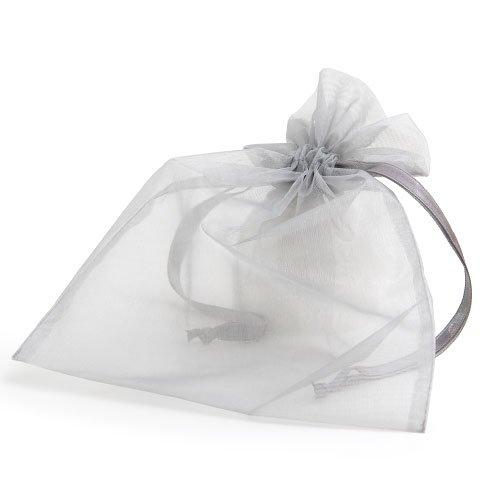 organza bag/17x21cm/silvergrey