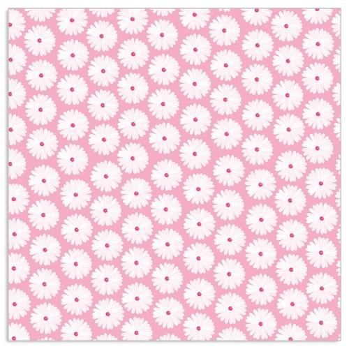 Serviette/33x33/Kleine weiße Blumen/rosé - ARTEBENE: Handel für ...