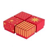 Geschenkboxen/6x6x4cm/4 Motive sortiert/
