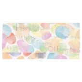 Geschenkumschlag/23x11cm/Bubbles/Happy