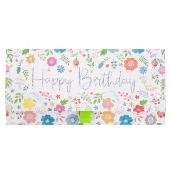 Geschenkumschlag/23x11cm/Blüten/Happy