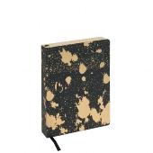 Schreibbuch/DIN A6/Kleckse/schwarz/gold