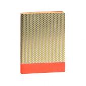 Schreibbuch/DIN A5/Tropfen/gold/neon