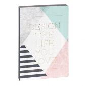 Schreibbuch/DIN A5/Design the life
