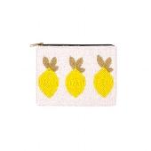 Perlentasche/17x11,5cm/Zitronen